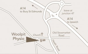 Woolpit physio location map